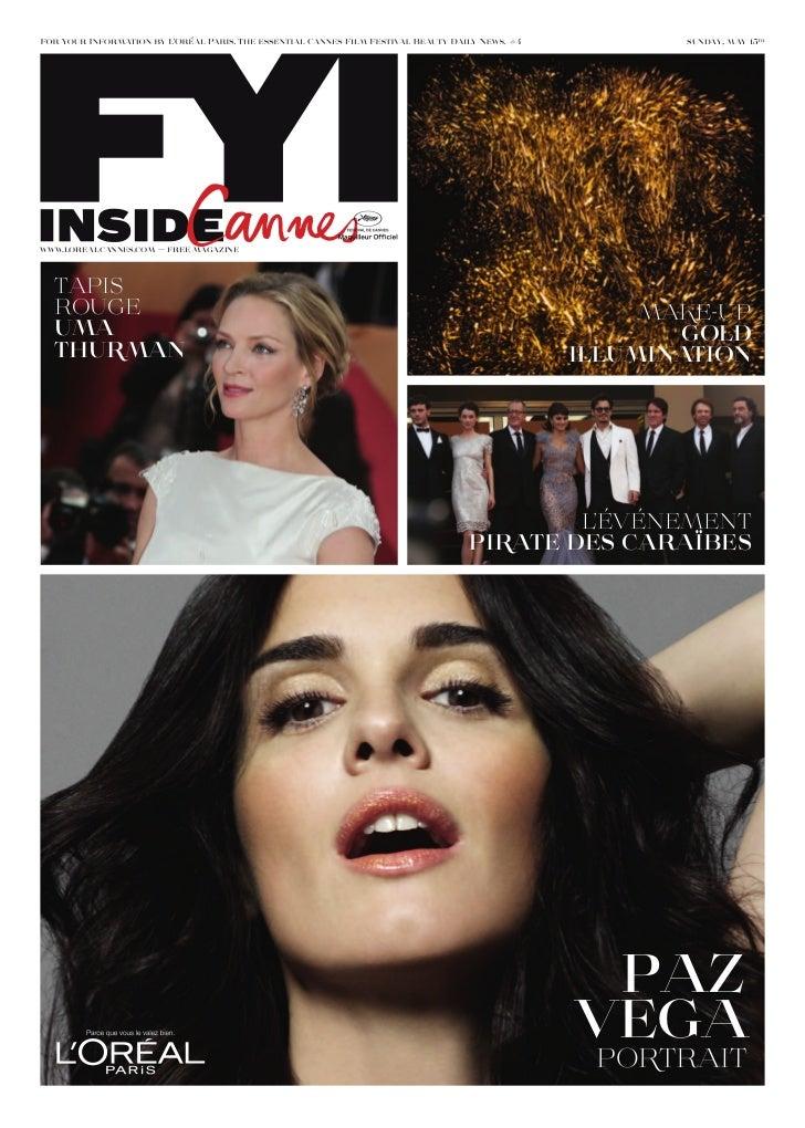 #4           sunday, may 15thwww.lorealcannes.com — free magazine  TAPIs  ROuge                                        ...