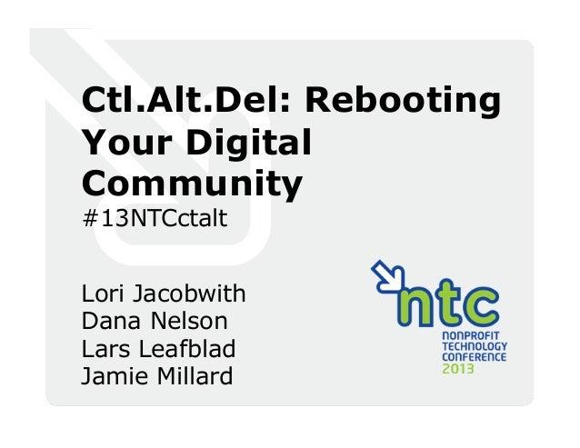 Ctrl + Alt + Del: Rebooting Your Digital Community