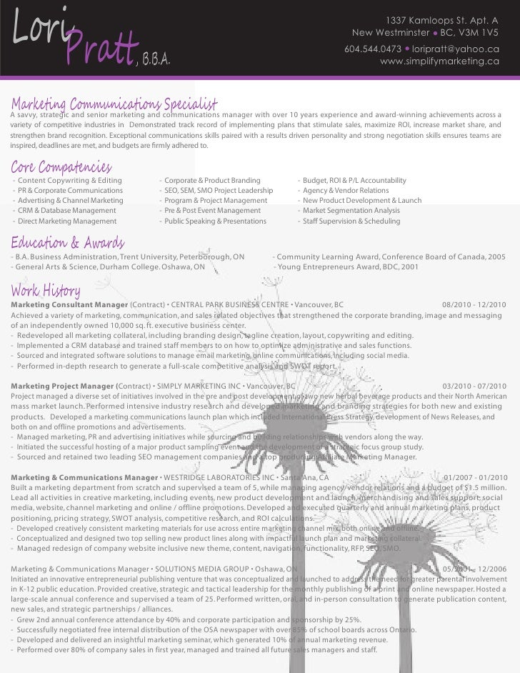 LP - Jan. 2011 Resume