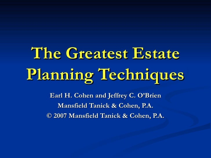 Lorman Foundations Of Estate Planning 07