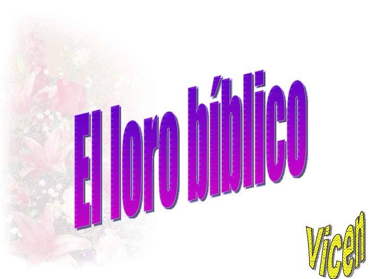 El loro bíblico Vicen