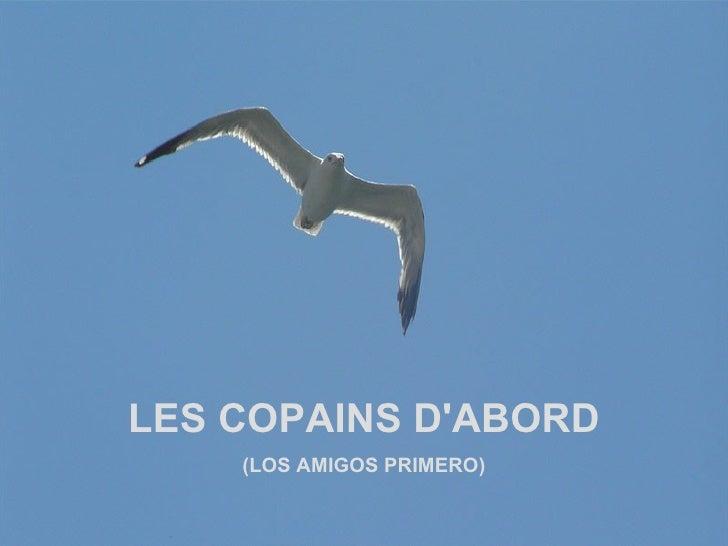 LES COPAINS D'ABORD (LOS AMIGOS PRIMERO)