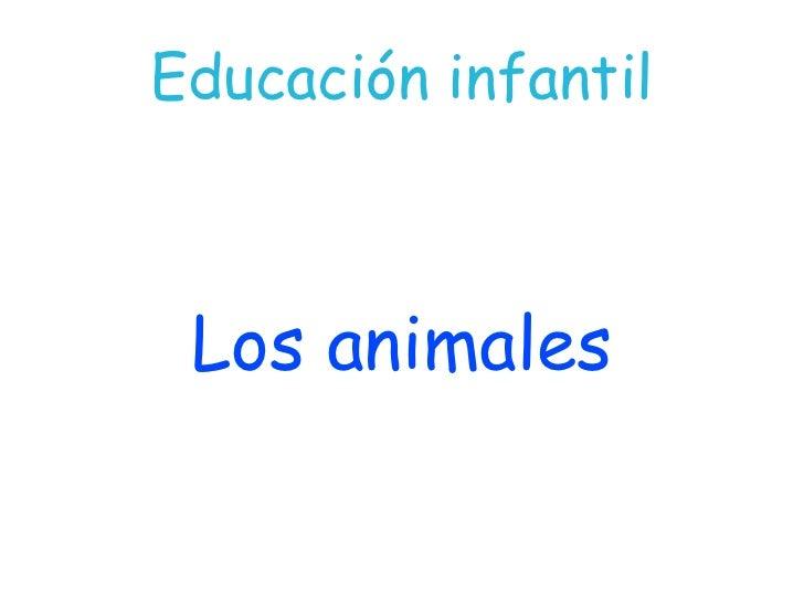 Educación infantil Los animales