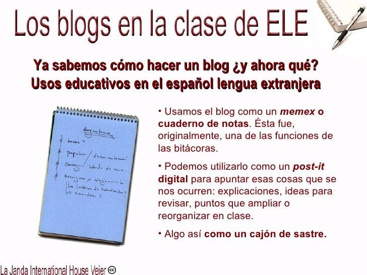 Los blogs en clase ELE