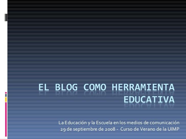 Los blogs como herramienta educativa