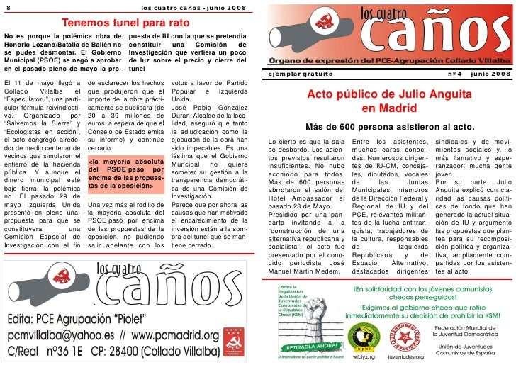 ejemplar gratuito                                            nº 4   junio 2008               Acto público de Julio Anguita...