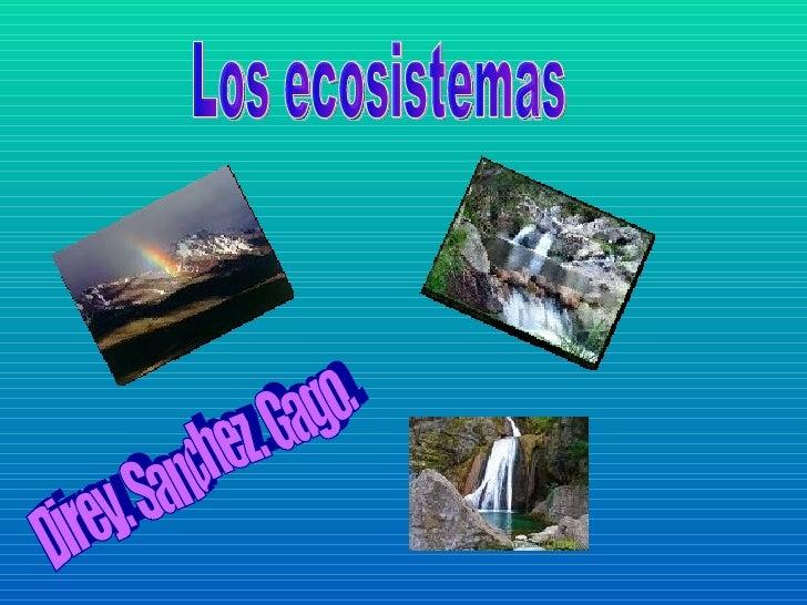 Los ecosistemas Direy. Sanchez. Gago.