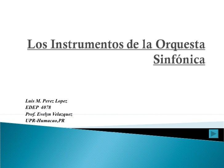 Los Instrumentos De La Sinfonica 2