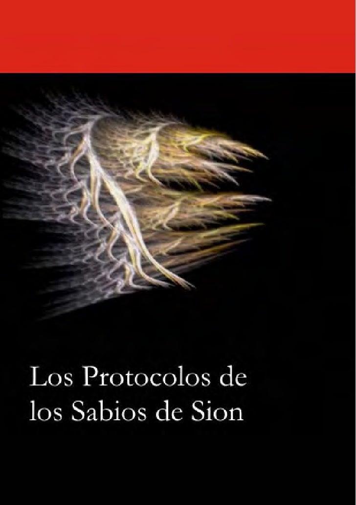 Los Protocolos de los Sabios de SiónLos Protocolosde los Sabios de      Sión                  -1-