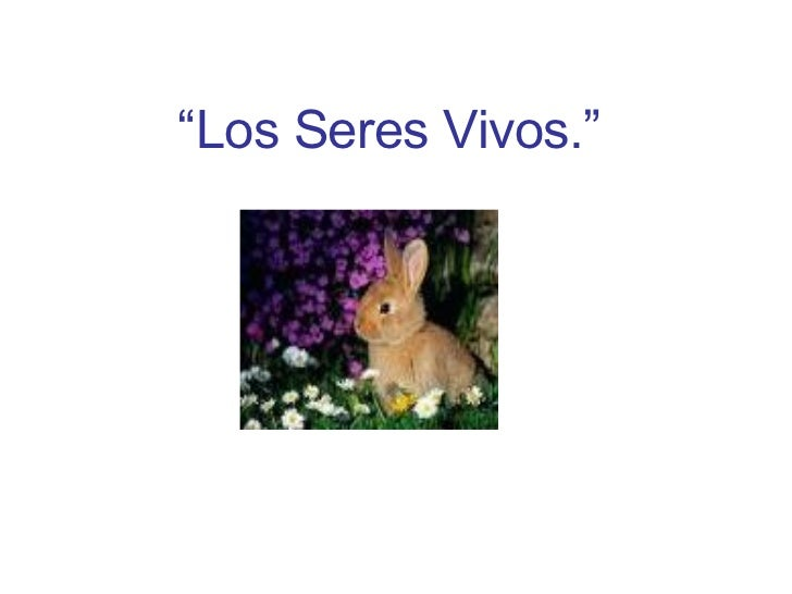 """"""" Los Seres Vivos."""""""