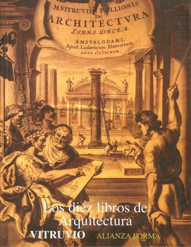 Los Diez Libros de Arquitectura Marco Lucio Vitruvio Polion