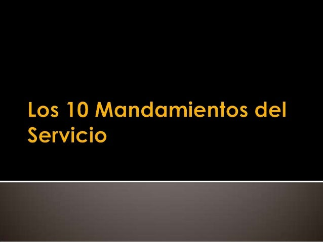 10 mandamiento servicio cliente: