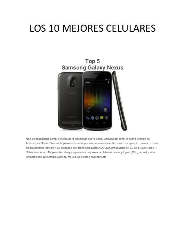 Los 10 mejores celulares