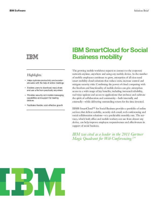 IBM Small Cloud For Social Business Mobility