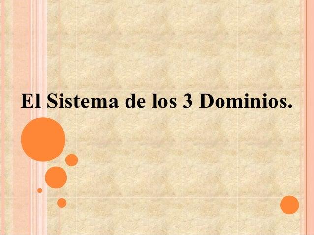 El Sistema de los 3 Dominios.