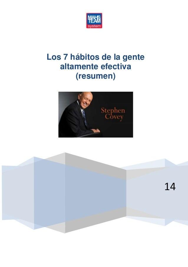 14 Los 7 hábitos de la gente altamente efectiva (resumen)