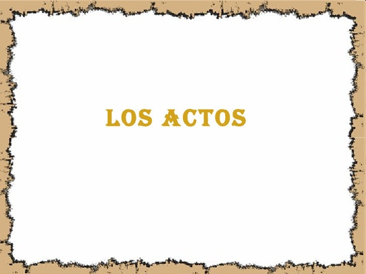 Los actos