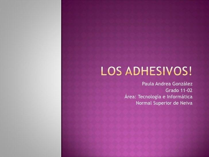 Paula Andrea González Grado 11-02 Área: Tecnología e Informática Normal Superior de Neiva