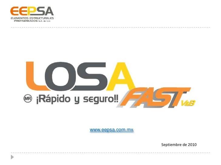 www.eepsa.com.mx<br />Septiembre de 2010<br />