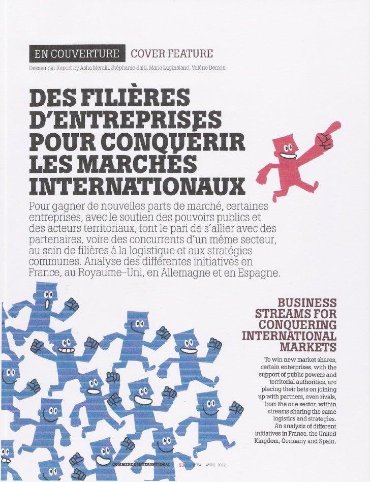 Los agrupamientos de empresas para conquistar mercados internacionales 1a parte
