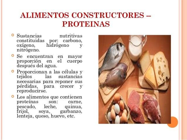 Los alimentos ppt - Q alimentos son proteinas ...