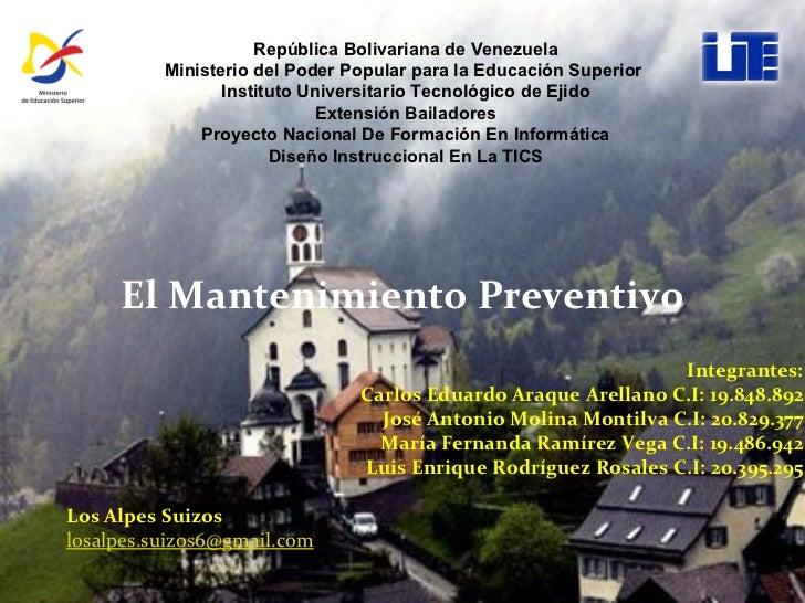 Integrantes: Carlos Eduardo Araque Arellano C.I: 19.848.892 José Antonio Molina Montilva C.I: 20.829.377 María Fernanda Ra...