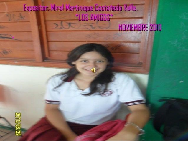 Expositor: Mirel Martinique Castañeda Valle.Expositor: Mirel Martinique Castañeda Valle. *LOS AMIGOS**LOS AMIGOS* NOVIEMBR...