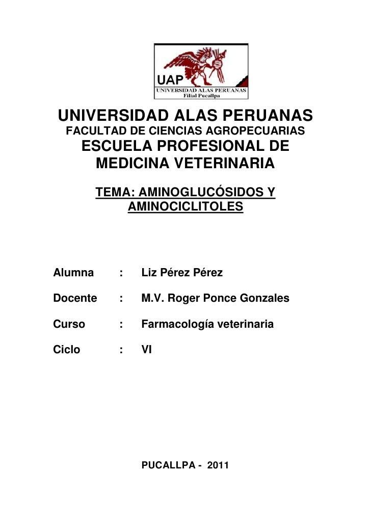 UNIVERSIDAD ALAS PERUANAS  FACULTAD DE CIENCIAS AGROPECUARIAS        ESCUELA PROFESIONAL DE         MEDICINA VETERINARIA  ...