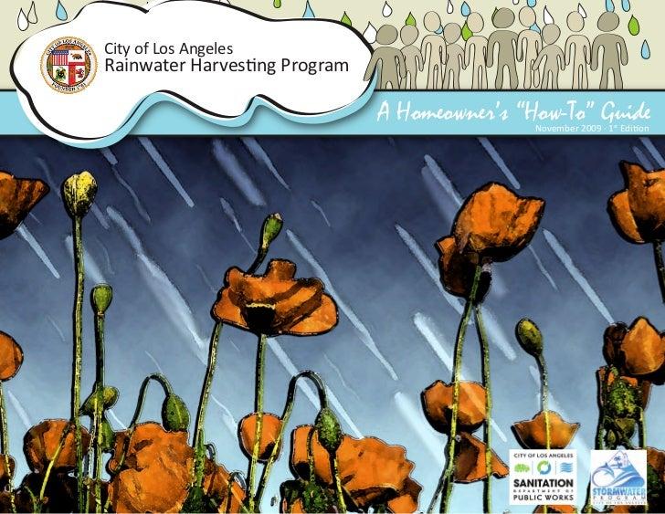 Los Angeles Rainwater Harvesting Manual