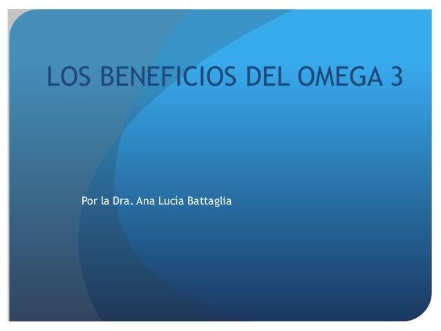Los beneficios del omega