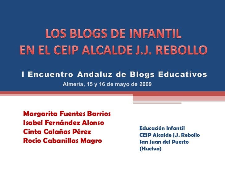 Los Blogs en Infantil