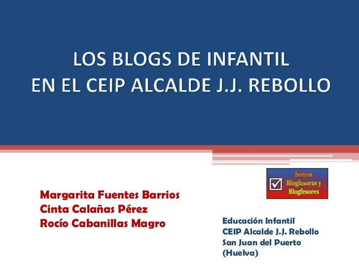 Margarita Fuentes BarriosCinta Calañas PérezRocío Cabanillas Magro      Educación Infantil                            CEIP...