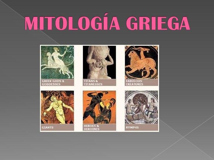 MITOLOGÍA GRIEGA<br />