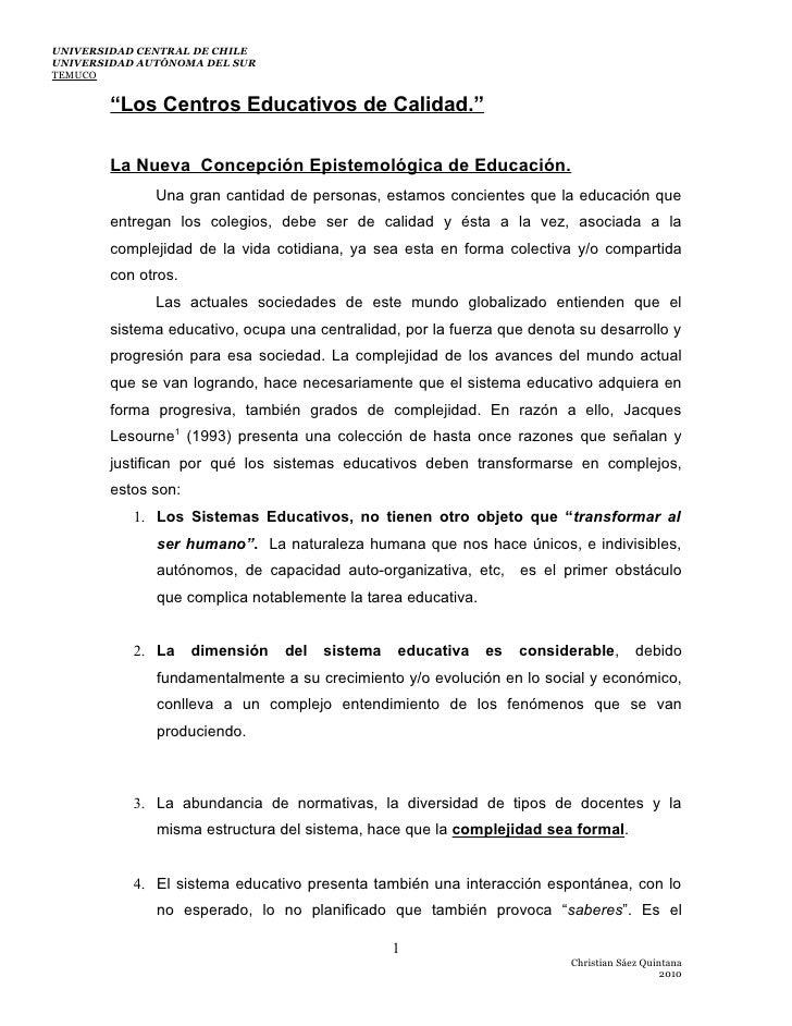 Los centros educativos de calidad