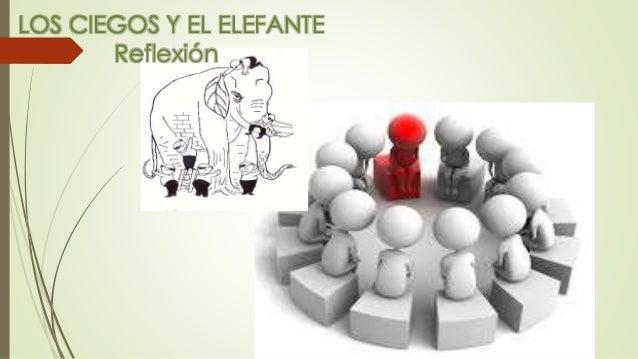 LOS CIEGOS Y EL ELEFANTE Reflexión