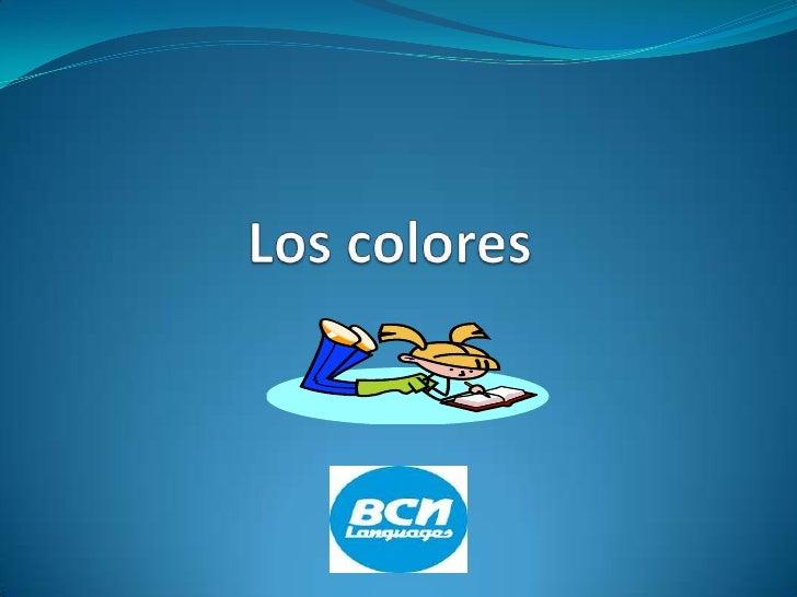 Los colores<br />