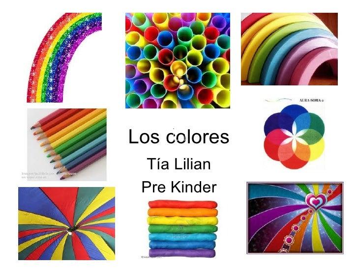 Los colores Tía Lilian Pre Kinder
