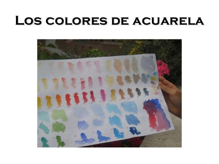 &Los colores de acuarela