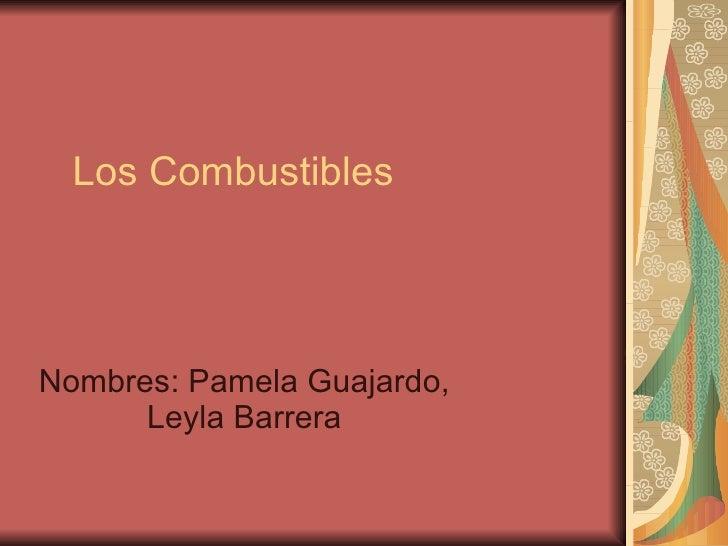Los Combustibles Nombres: Pamela Guajardo, Leyla Barrera