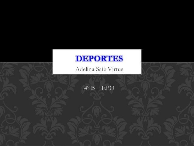 Adelina Saiz Virtus 4º B EPO DEPORTES