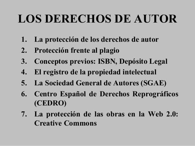 Trabajo sobre los Derechos de autor