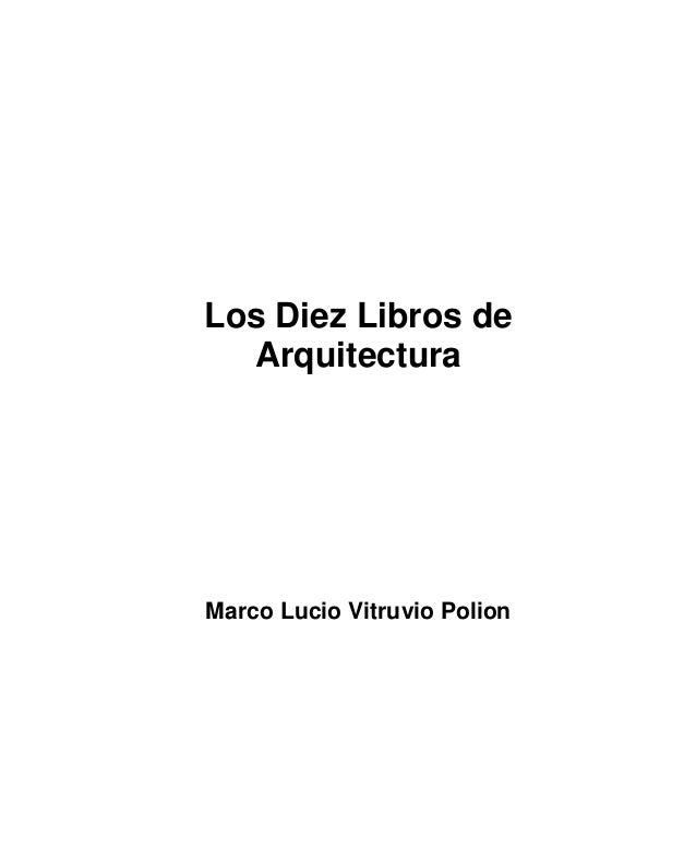 10 Libros De Vitruvio Pdf The Best Free Software For