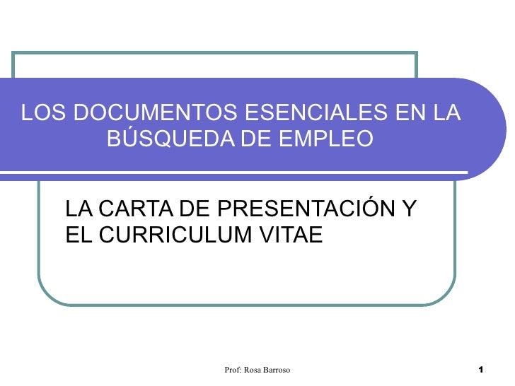 Los Documentos Esenciales En La BúSqueda De Empleo