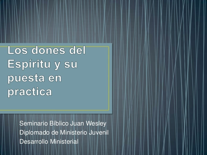 Seminario Bíblico Juan WesleyDiplomado de Ministerio JuvenilDesarrollo Ministerial