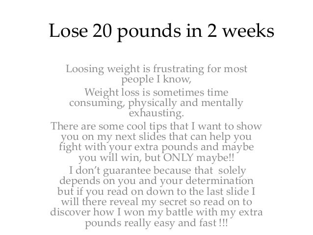 How to lose 20 pounds in 2 months diet