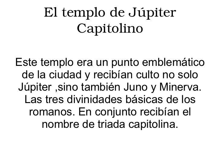 Resultado de imagen para juno temple jupiter capitolino