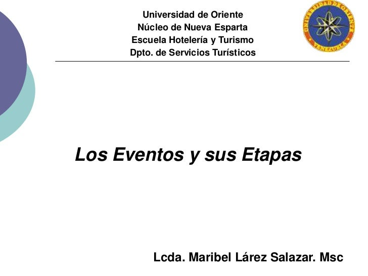 Universidad de Oriente<br />Núcleo de Nueva Esparta<br />Escuela Hotelería y Turismo<br />Dpto. de Servicios Turísticos<br...
