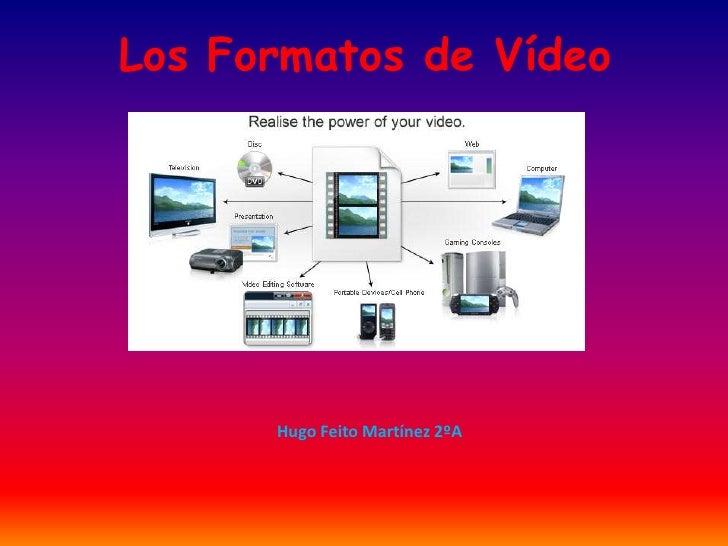 Los Formatos de Vídeo      Hugo Feito Martínez 2ºA