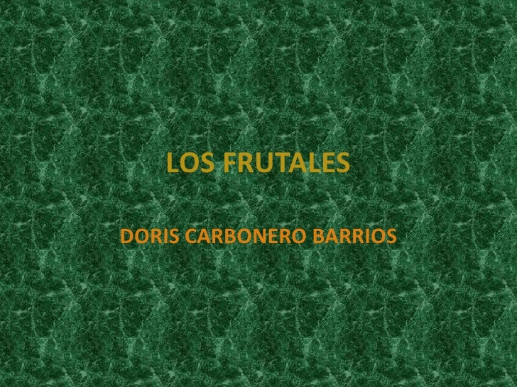 LOS FRUTALESDORIS CARBONERO BARRIOS