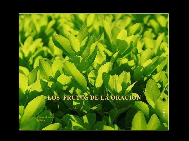 Braid44 <ul><ul><ul><li>LOS  FRUTOS DE LA ORACIÓN </li></ul></ul></ul>Utiliza el mouse Música